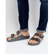 Birkenstock Arizona Eva Metallic Sandals in Anthracite - Grey (Sizes: UK 12, UK 8, UK 7, UK 10, UK 9, UK 11)
