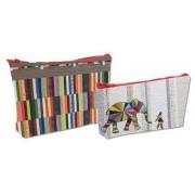 Elephant and I - Eco Pouch Set by Jennifer Sampou