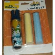 Sidewalk Chalk Minions 3 Piece Sidewalk Chalk Set - 1 chalk holder & 2 pieces of jumbo chalk