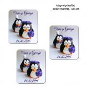 Magnet Nunta Cu Pinguini