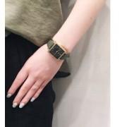 ビッグフェイスウォッチ スクエア ブラック×カーキ【エテ/ete その他(アクセサリー・ヘアアクセサリー)】