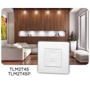 Yokis TLM2T45 TELECOMMANDE MURALE 2 Touches 45x45