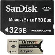SanDisk Flash 32 GB Memory Stick PRO Duo Flash Memory Card SDMSPD-032G Black