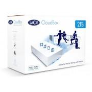 LaCie CloudBox 2 TB External Hard Disk Drive(White)