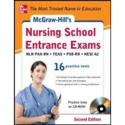 McGraw-Hill's Nursing School Entrance Exams with CD-ROM by McGraw-Hill Education