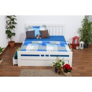 Steiner Shopping Youth bed K8 Easy Sleep incl. 4 drawers and 2 cover plates, solid beech wood, wh