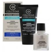 Collistar Uomo Crema Superidratante Lenitiva Krem nawilżający do skóry wrażliwej 50ml + Emulsja po goleniu 15ml