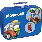 Schmidt Spiele 55599 Playmobil- Set Puzzle 2x 60 pezzi e 2x100 pezzi [Valigetta in metallo]