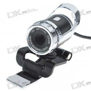 Driveless 1.3MP HD Webcam with Built-in Microphone - Black