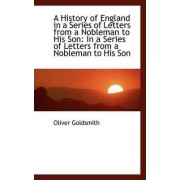 A History of England in a Series of Letters from a Nobleman to His Son by Oliver Goldsmith