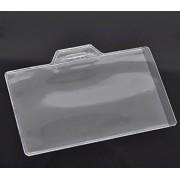 20 x valor plástico transparente Horizontal bolsillo de tarjeta de ID Badge Holders bolsillos - para visitantes, invitados, exposiciones