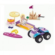 Girls Dream Building Blocks Friends Beach set 96pc Includes Action Figure Compatible to Lego Parts - Great Gift for Chil