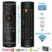 Magic Control Pro, teclado y ratón inalámbrico, para TV SmartTV.