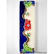 Numero civico ceramica con fiore nf14