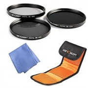 KF Concept 67mm ND2 ND4 ND8 Lens Filter Kit ND Neutral Density Filters Set for CANON Rebel T5i T4i T3i T2i EOS 1200D 450D 100D 700D 650D 600D 550D 70D 18-135MM Zoom Lens + Microfiber Lens Cleaning Cloth + 3 Slot Filter Pouch