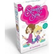The Sparkle Spa Shimmering Collection Books 1-4 (Glittery nail stickers inside!): All That Glitters; Purple Nails and Puppy Tails; Makeover Magic; True Colors by Jill Santopolo