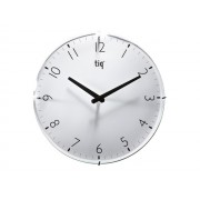 Ceas rotund de perete, D-400mm, cifre arabe, TIQ - dial alb
