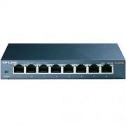 TP-LINK Switch TP Link TL-SG108, 1000 Mb/s, 8 portów RJ45, QoS, IGMP, metalowa obudowa