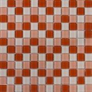 Maxwhite H11 plus H13 plus H15 Mozaika skleněná červená světlá růžová krémová 29,7x29,7cm
