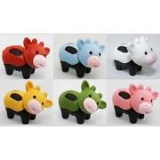 6pcs Japanese Iwako Erasers-Black Feet Cow