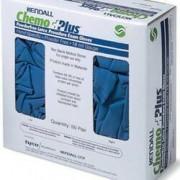Exam Glove ChemoPlus NonSterile Powder Free Latex Hand Specific Textured Fingertips Blue Chemo Tested Medium Qty 100