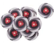 Magideal 10Pcs Heart Ceramic Poker Chips For Mahjong & Texas Poker White