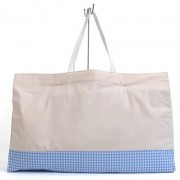 Happy nap futon bag Natural x check large and blue made in Japan N1005100 peacefully (japan import)