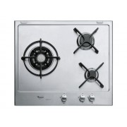 Whirlpool iXelium AKT 615/IXL - Table de cuisson au gaz - 3 plaques de cuisson - Niche - largeur : 56 cm - profondeur : 48 cm - argent - sans cadre - inox