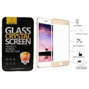 Parallel Universe Full Screen Tempered Glass 4D [ 9H Hardness ] [ Edge to Edge Glass ] with Easy Self installation kit - For iPhone 6 Plus - Gold