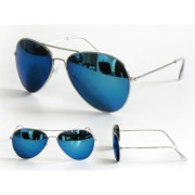 Carnaval blauwe spiegelbril agent