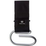 Think King Jumbo Swirly Hook For Strollers/Walkers - Brushed Aluminum/Black