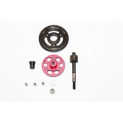 Axial SMT10 Grave Digger (AX90055) & MAX-D (AX90057) Upgrade Parts Aluminium Spur Gear Adapter+Steel Gear 55T - 1 Set Red