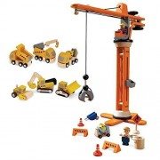 Plan Toys Plan City Construction Special With Crane Set And Construction Vehicles