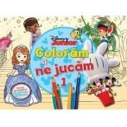 Disney Junior - Coloram si ne jucam 1. Planse de colorat cu activitati distractive