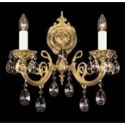 Cast crystal wall sconce 8004 02/02-669S