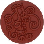 Magideal DIY Creative Vintage Round Wooden Seal Rubber Stamp(Love)