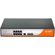 Switch TG-Net P2010M, 8 porturi, PoE, 2 x SFP, 150W