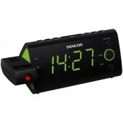 Ébresztőórás rádió idővetítéssel, hőmérő és naptár SRC 330 GN