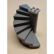 the hottest items 2014-2015x1 NEW Lego Castle Stairs Dark Bluish Gray Winding Spiral Staircases 8 Steps
