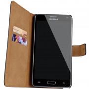Premium Black Samsung Galaxy Note 3 Genuine Leather Wallet Case
