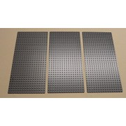 the hottest items 2014-2015x3 NEW Lego Gray Baseplates Base Plates Brick Building 16 x 32 Dots BLUISH GRAY