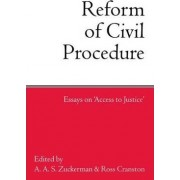 The Reform of Civil Procedure by Visiting Professor Ross Cranston