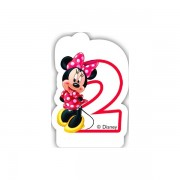 Lumanare party cifra 2 Minnie
