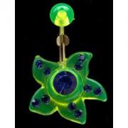 Piercing de nombril Etoile verte et bleue