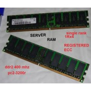Memorie ram server 2GB PC2-3200R DDR2-400 MHZ 1Rx4 CL3 ECC REGISTERED DELL HP/COMPAQ IBM SUN
