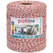 Electric Fence Polywire 1000m, 1x0.25 Copper + 8x0,2 STST, White-Red