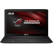 Laptop ASUS Gaming ROG GL552VX, Intel Core i7-6700HQ, 15.6'' FHD IPS, 16GB DDR4, 1TB 7200 RPM + 128GB SSD, GeForce GTX 950M 4GB, FreeDos, Grey, versiunea metalica