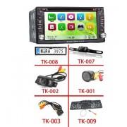 """6.2"""" HD Érintőkijelzős DVD 2 DIN fejegység, GPS vevővel + Tolatókamera szett"""
