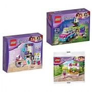 LEGO Friends Bundle 3 Sets: Emmas Creative Workshop 41115 Olivias Exploration Car 41116 and Stephanies Bakery Stand 31