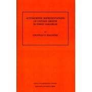 Automorphic Representation of Unitary Groups in Three Variables. (AM-123) by Jonathan David Rogawski